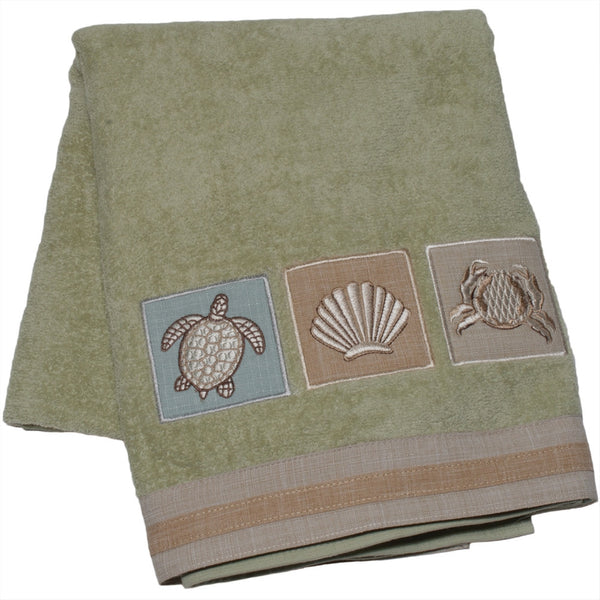 Sea Turtle & Shell Crab Bath Towel