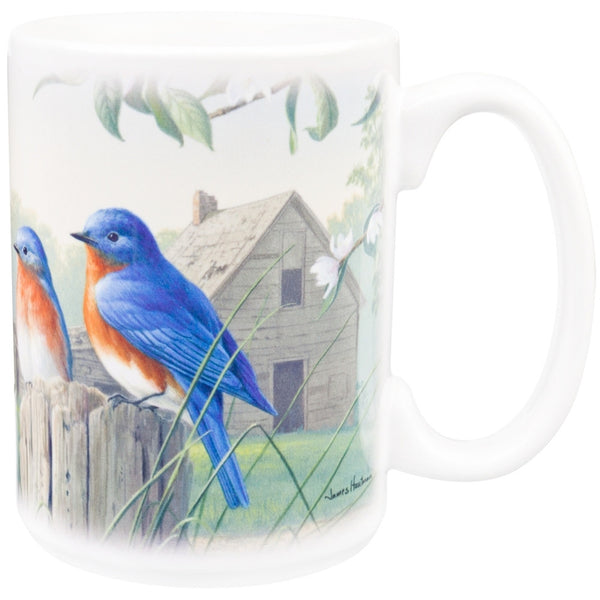 Birds On A Pole Coffee Mug