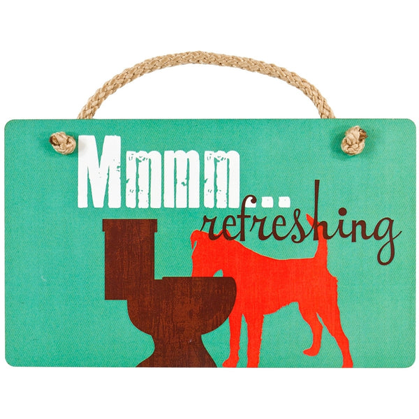 Dog Mmmm Refreshing Wall Plaque