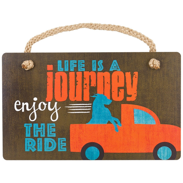 Doberman Life's A Journey Wall Plaque