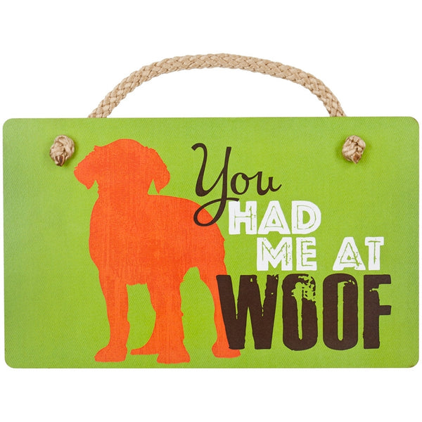 Goldendoodle You Had Me at Woof Wall Plaque