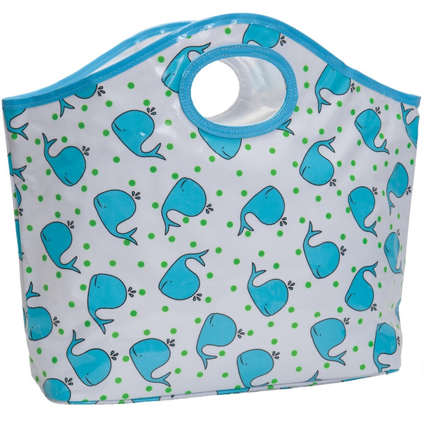 Whales All-Over Cutout Tote Bag