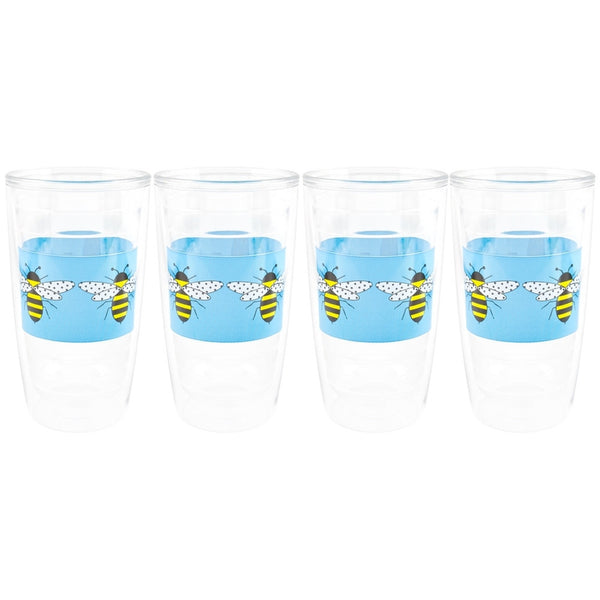 Bumble Bee Flying Set Of Four Tumblers