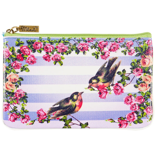 Love Birds Shabby Chic Carry Pouch