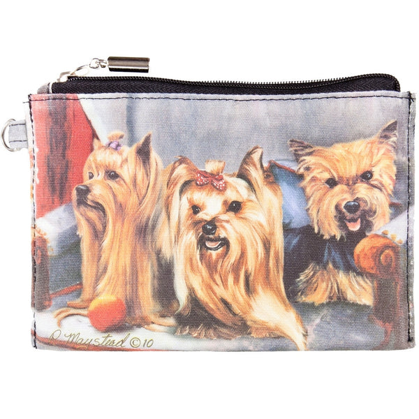 Yorkshire Terriers Sitting on A Chair Zippered Pouch