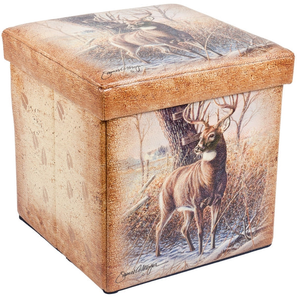 Deer In Forest Small Storage Footstool