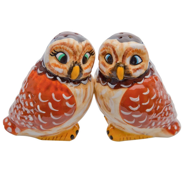 Owls Heads Turned Salt & Pepper Shakers