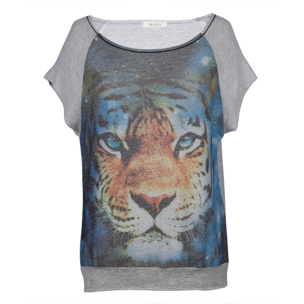 Tiger Face All-Over Women's Baggy T-Shirt