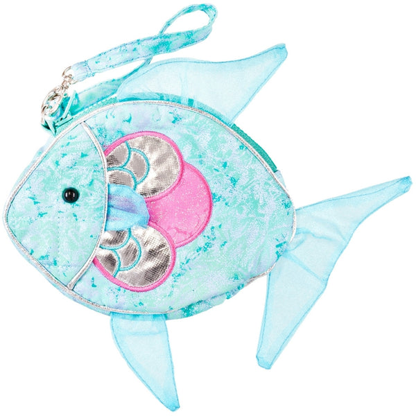 Swirly the Fish Soft Plush Wristlet Bag