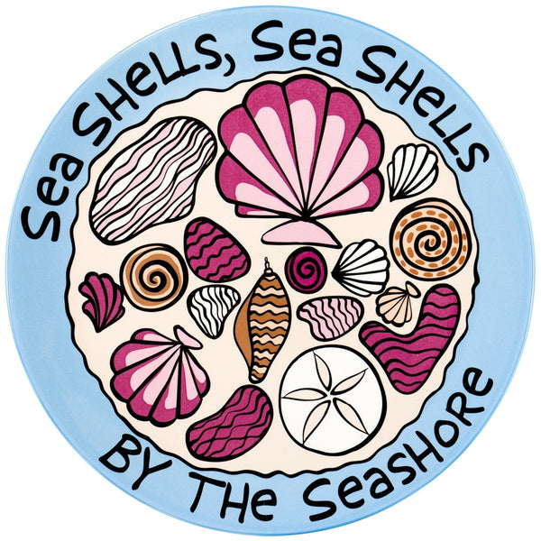 Seashells By The Seashore Round Platter