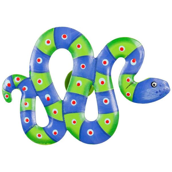 Blue Snake Body Bobble Metal Magnet