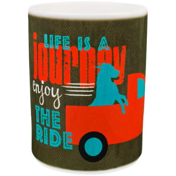 Dog Life's A Journey Coffee Mug
