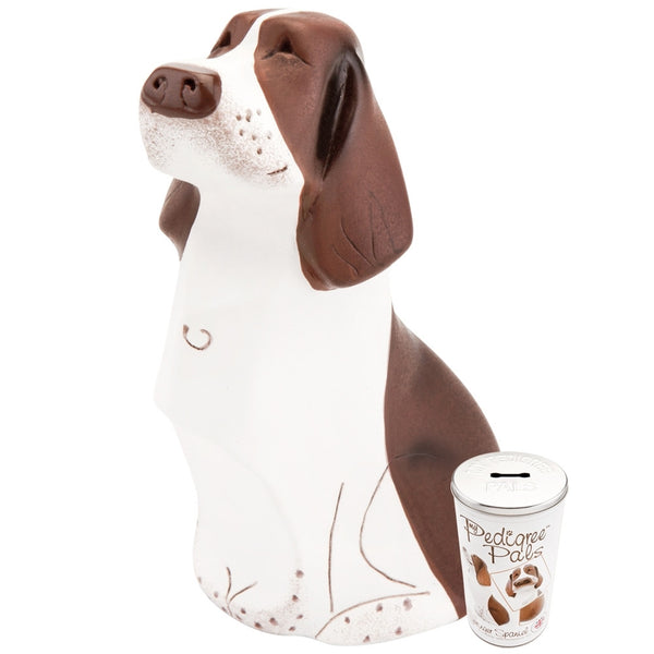 Springer Spaniel Figurine With Money Box Tin