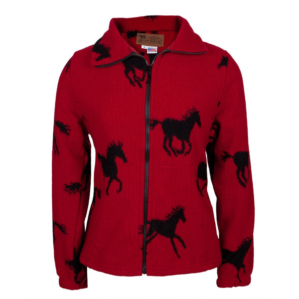 Horses Running All-Over Women's Wool Jacket