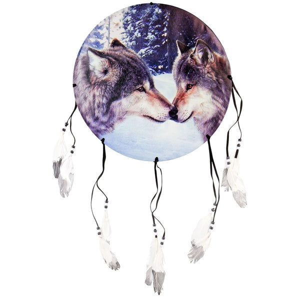 Wolves Touching Noses Dream Catcher