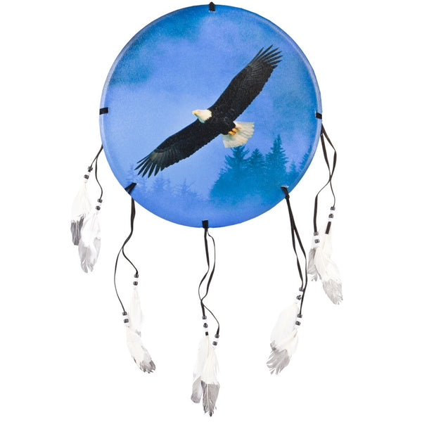 Eagle Soaring Above Trees Dream Catcher