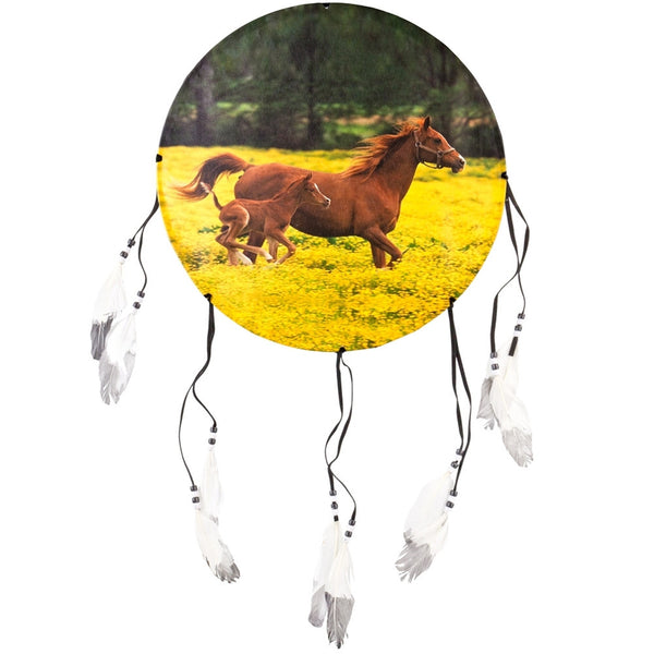 Horses Running Side Profile Dream Catcher