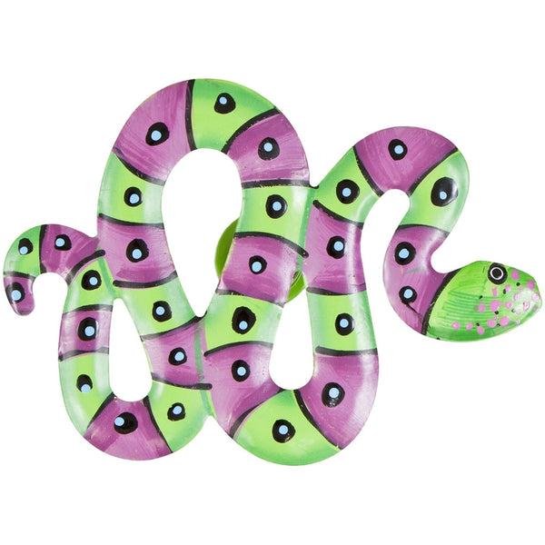 Green Snake Body Bobble Metal Magnet