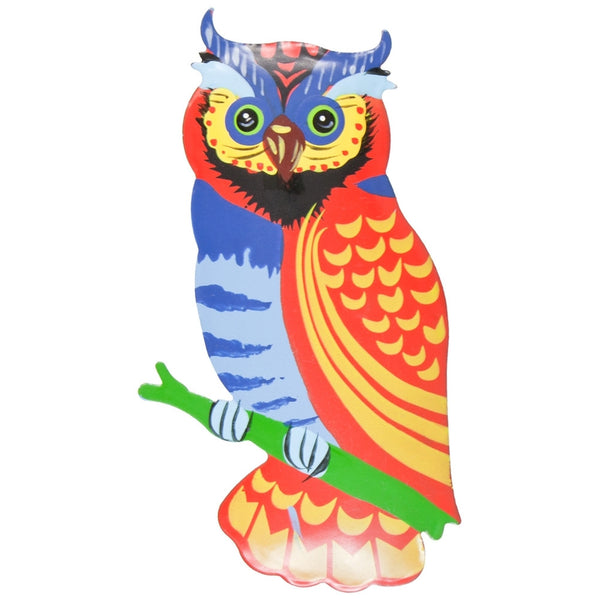 Red Owl Body Bobble Metal Magnet