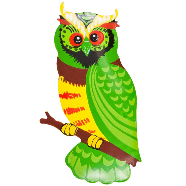 Green Owl Body Bobble Metal Magnet