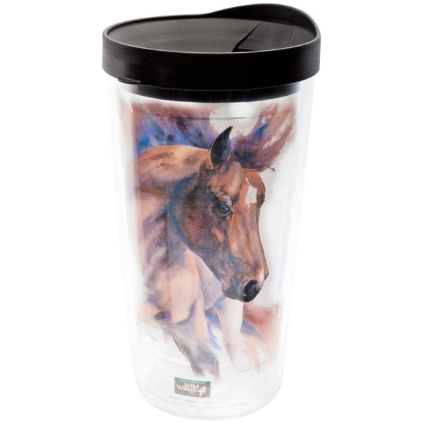 Horse With Head Turned Wall Acrylic Tumbler