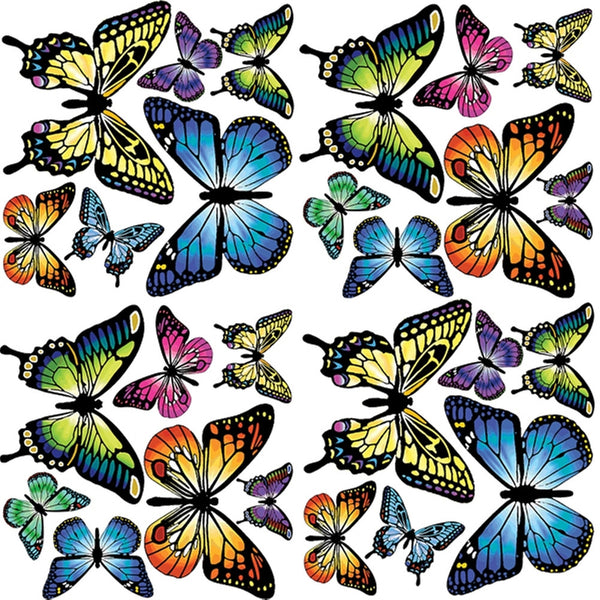 Butterfly Assortment Wall Decal Set