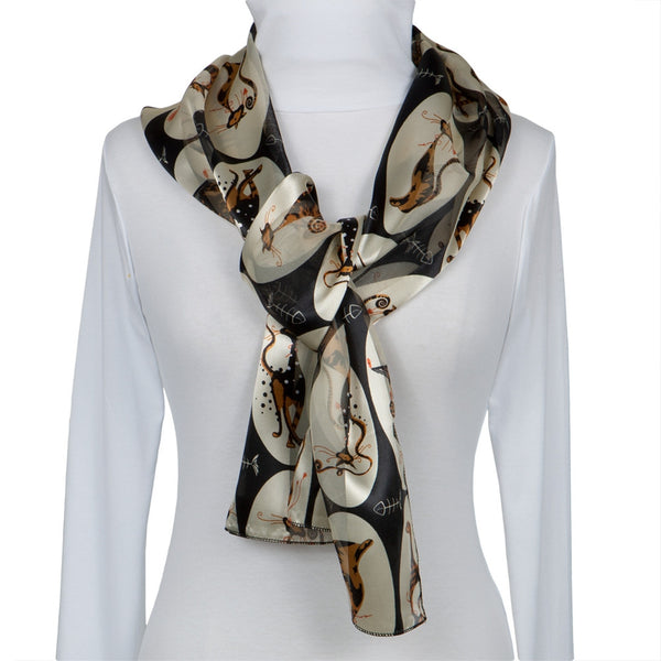 Cat Oval Portrait All-Over Women's Scarf