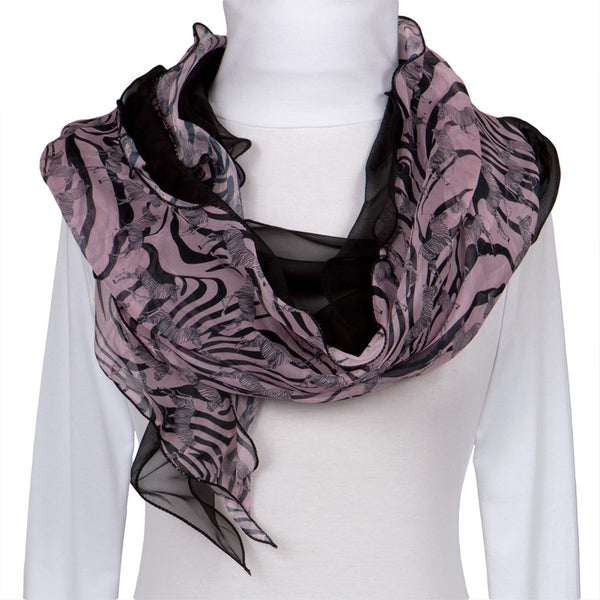 Zebra & Stripes All-Over Women's Scarf