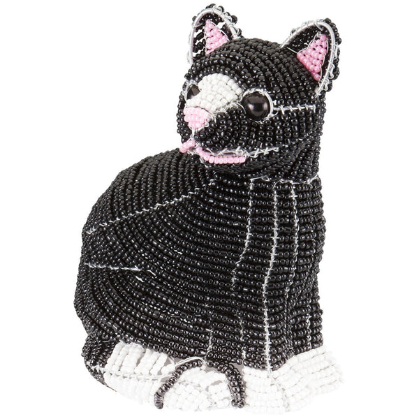 Cat Body Handcrafted Beaded Sculpture