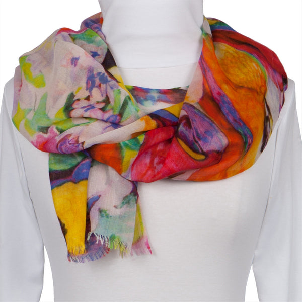 Parrots Collage All-Over Scarf