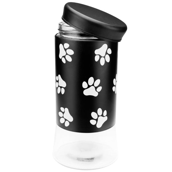 Dog Paws All-Over Glass Jar