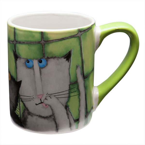 Cats Hanging Against Wall Coffee Mug