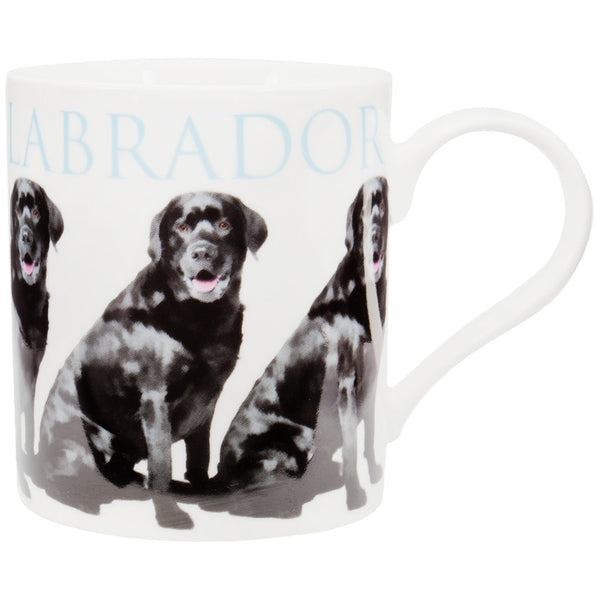 Black Labrador Repeat Body Coffee Mug