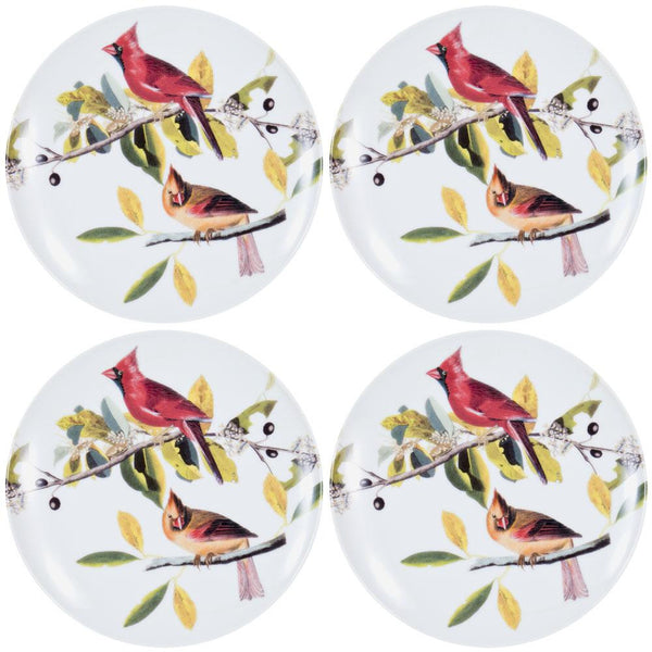 Cardinals In a Tree Set of Four Dessert Plates
