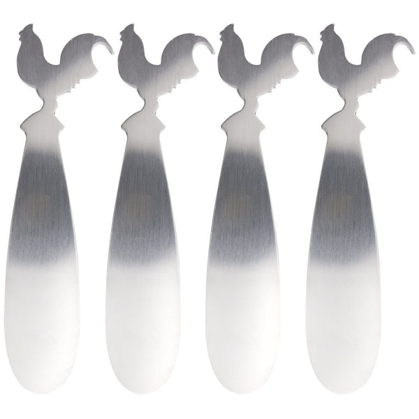 Rooster Body Set of Four Spreaders