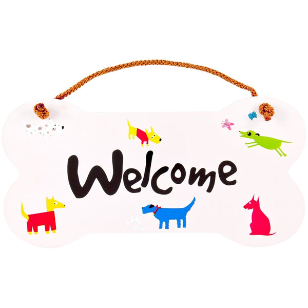 Dogs Welcome Wall Sign