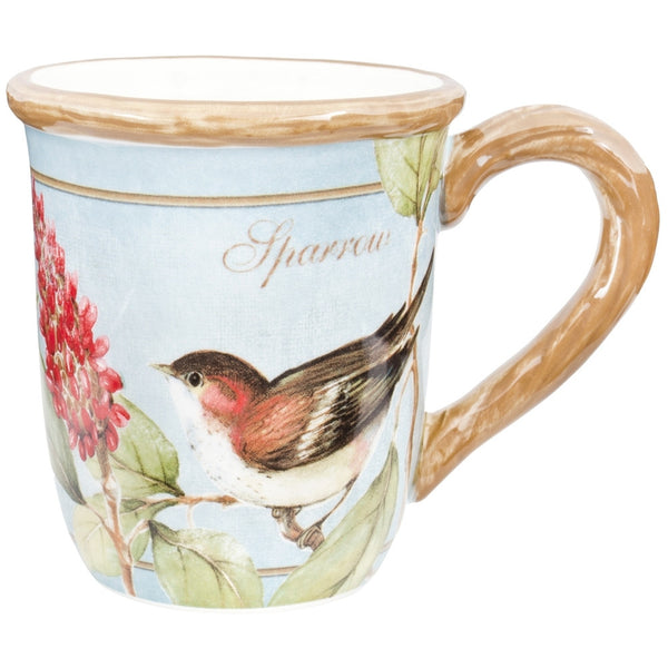 Sparrow Perched on a Branch Coffee Mug