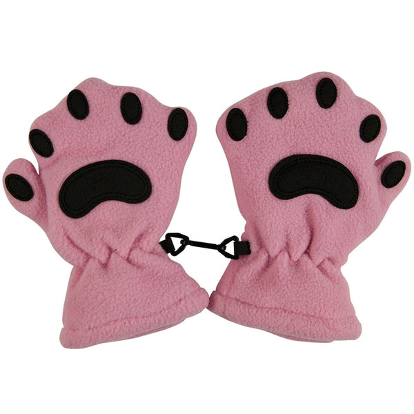 Bear Hands Pink Toddler Mittens