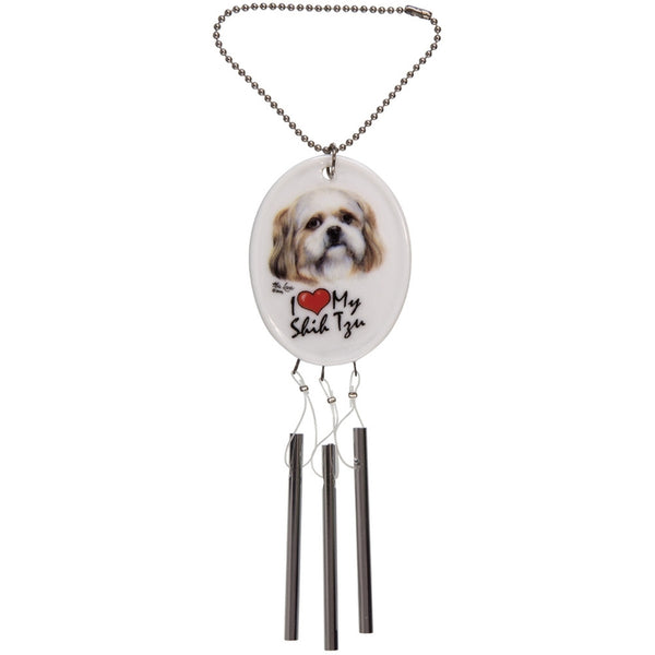 Shih Tzu Ceramic Car Chime