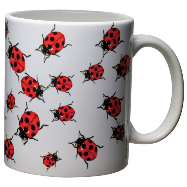Ladybugs White Ceramic Mug