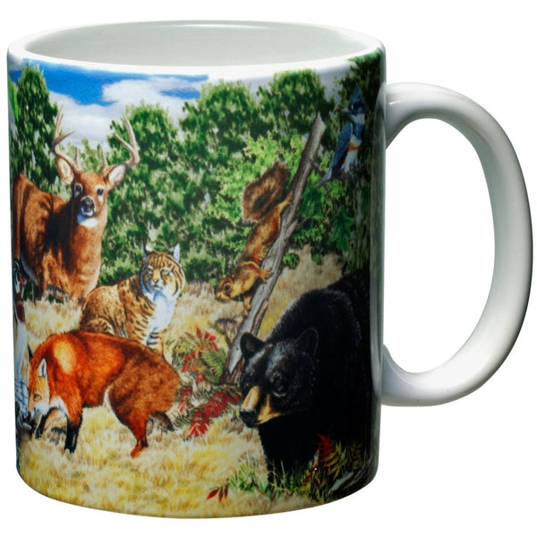 Woodlands Scene White Ceramic Mug