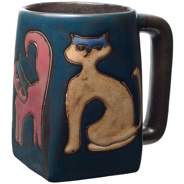 Cats Walking Square Bottom Mug