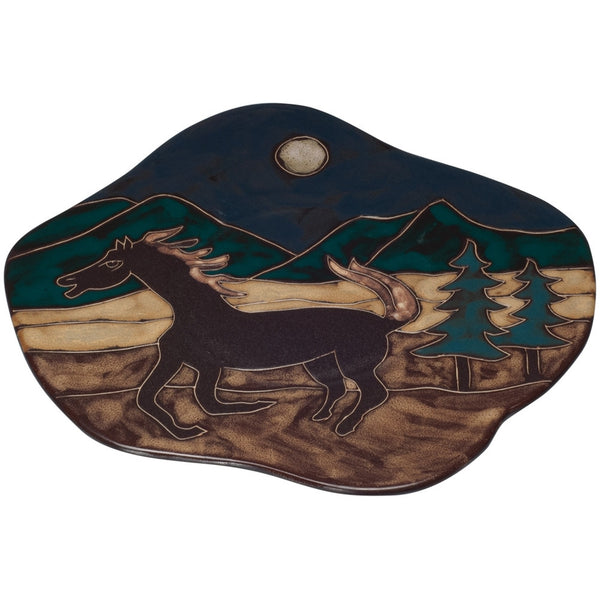 Mustang at Night Wave Dinner Plate