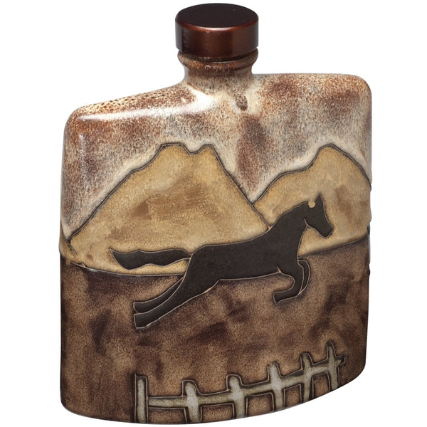 Equestrian Hand-Etched Square Decanter