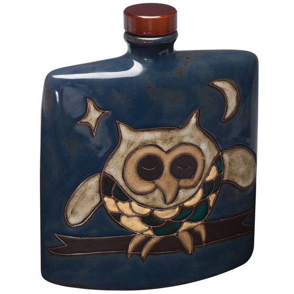 Owl Hand-Etched Square Decanter