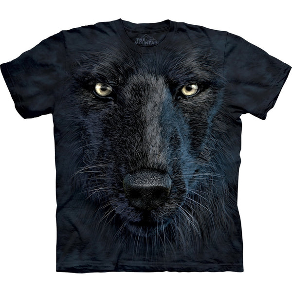 Black Wolf Face T-Shirt