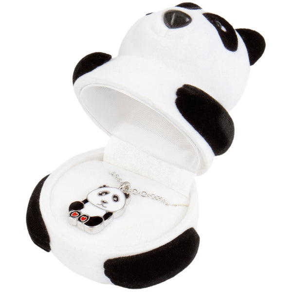 Panda Pendant Necklace With Animal Box