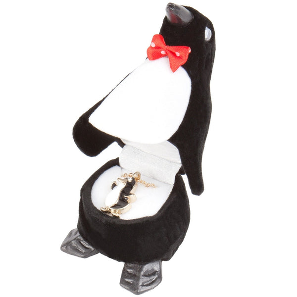 Penguin Pendant Necklace With Animal Box