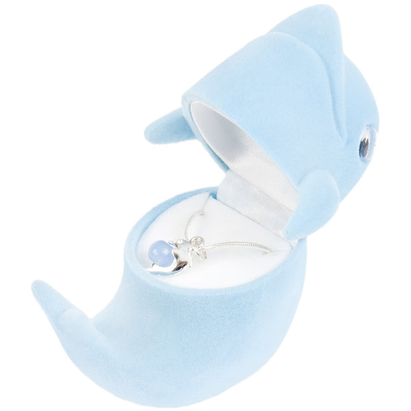 Dolphin Pendant Necklace With Animal Box