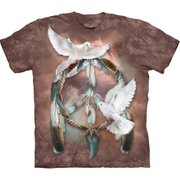 Doves Dream Catcher Peace T-Shirt
